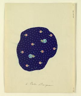 "Drawing, ""Six Color Design"", blue, 1927"
