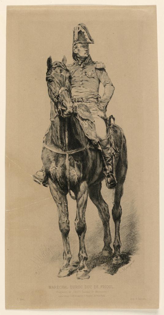 Print, Portrait of Maréchal Duroc, Duc de Frioul