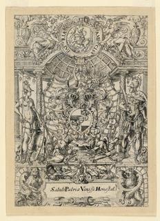 Print, Arms of the Pfinzing von, 1569