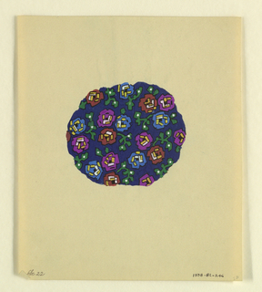 Drawing, Abstract polychrome flora, 1927