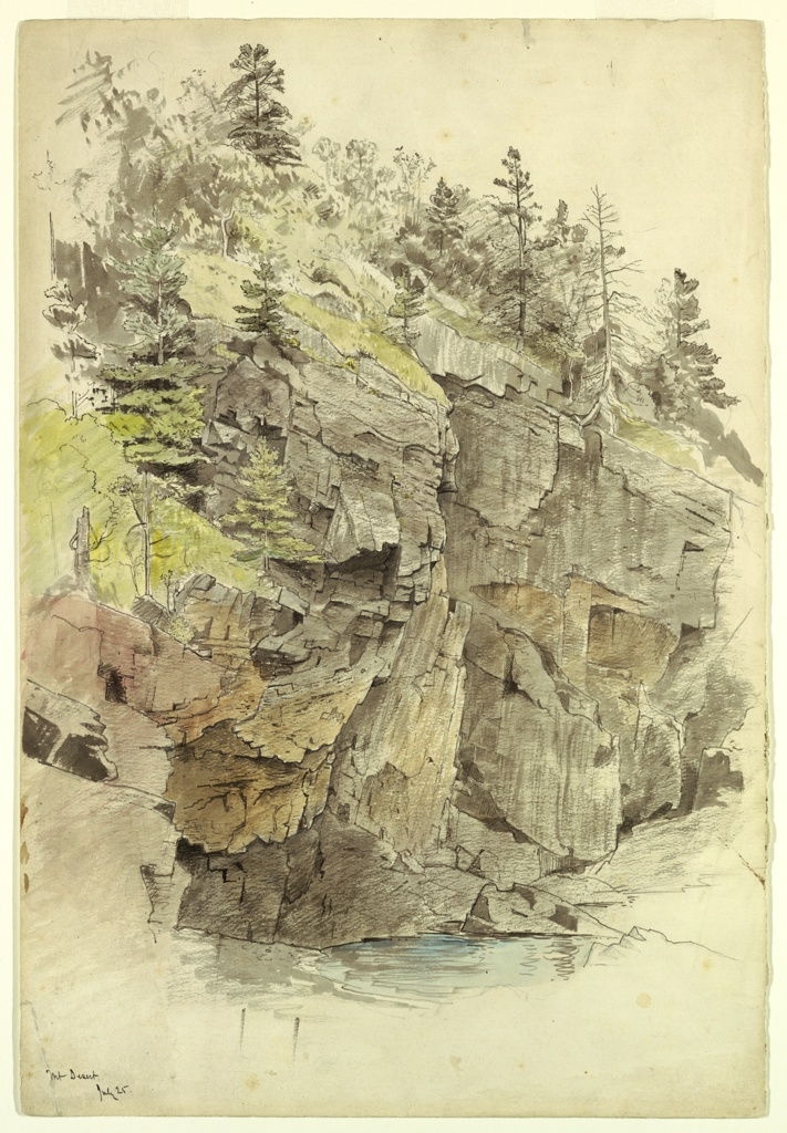 Drawing, Study of Cliffs, Mt. Desert, Maine