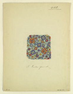 """Drawing, """"Eight Color Print"""", styl, 1927"""