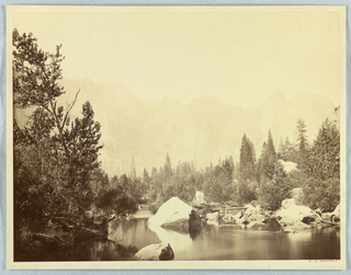 Photograph, View on the Merced River, Yosemite, 1861–66