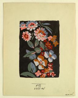 Drawing, Textile design, ca. 1915