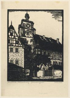 Print, View of Rothenburg