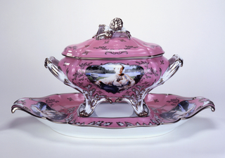Madame de Pompadour (née Poisson) Covered Tureen And Stand