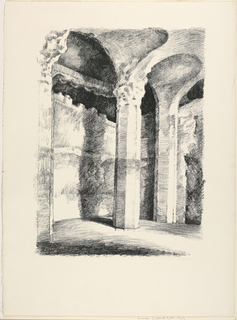 Print, Interior of a Vaulted Chamber