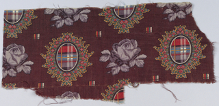 Flowers and medallions with plaid.