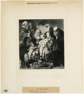 """Print, The Holy Family, from """"Etchings of Pictures in the Metropolitan Museum, New York"""""""