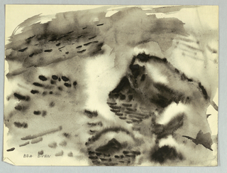 Drawing, Rocks and Water