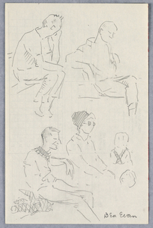 Drawing, Sketches of People, Washington Square Park