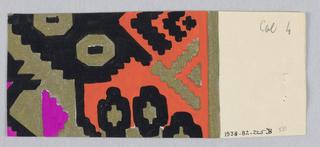 Drawing, Textile design, ca. 1919