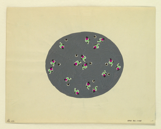 Drawing, Pink and blue floral moti, 1927