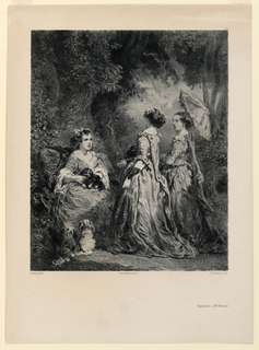 Print, In the Woods (La Causerie), ca. 1845–1850