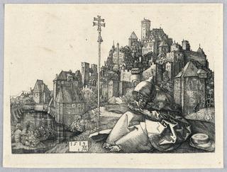 Print, Saint Anthony Reading, 1519