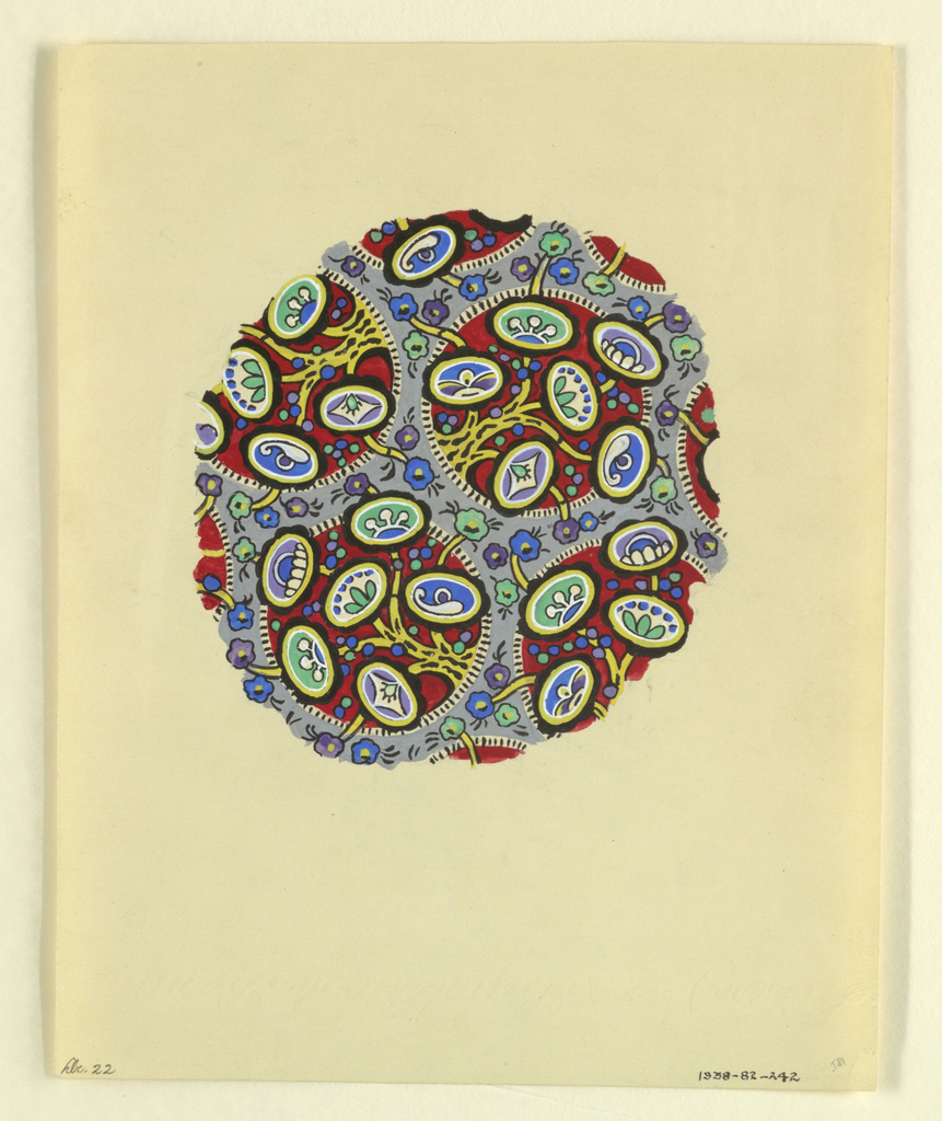 Drawing, Abstract polychrome flower, 1927