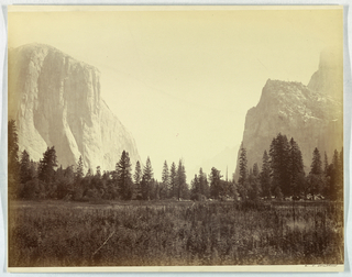Photograph, Up the valley from the foot of the Mariposa Trail, Yosemite, no. 9, ca. 1866