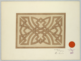 Drawing, design of interlacing, ca. 1900