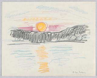 Drawing, Sunset, Rockport