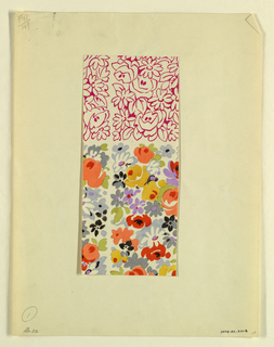 Drawing, Stylized all-over floral, 1928