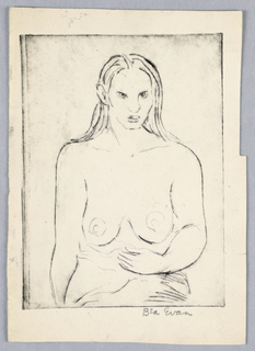 Drawing, Figure Study of a Woman