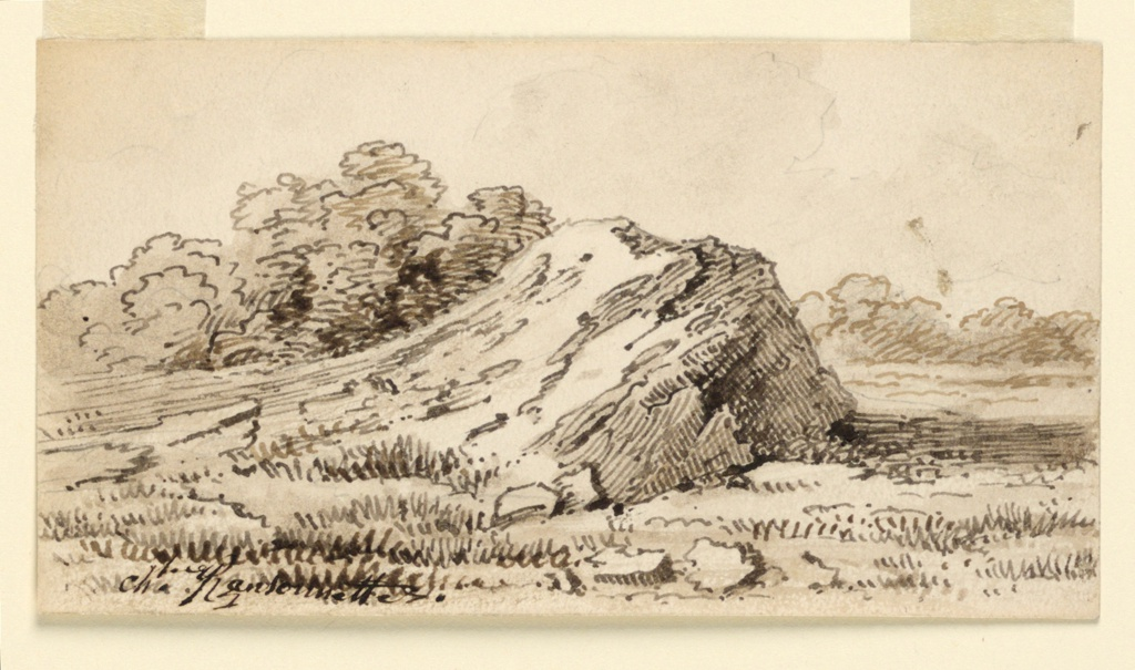 Landscape with mound.