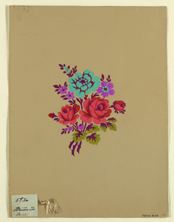 Drawing, Polychrome floral group c, 1915