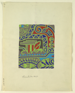 Drawing, Textile design, ca. 1924
