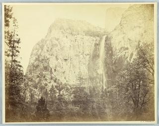 Photograph, Pohono, Bridal Veil, Yosemite, ca. 1866