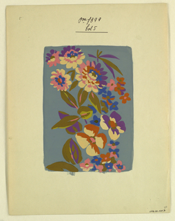 Drawing, Textile design, ca. 1915
