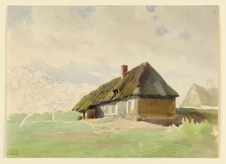 Drawing, Two Peasant Houses