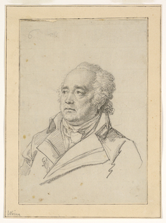 Drawing, Portrait of a Man, Giuseppe Valadier