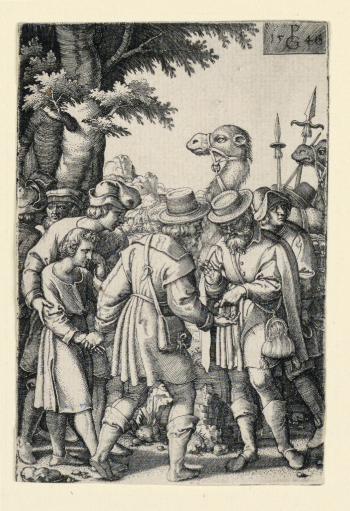 Print, Joseph sold by his brothers, from the Story of Joseph