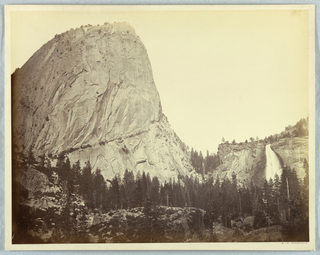 Photograph, Mount Broderick, Nevada Falls, 700 Feet, Yosemite, 1861–66