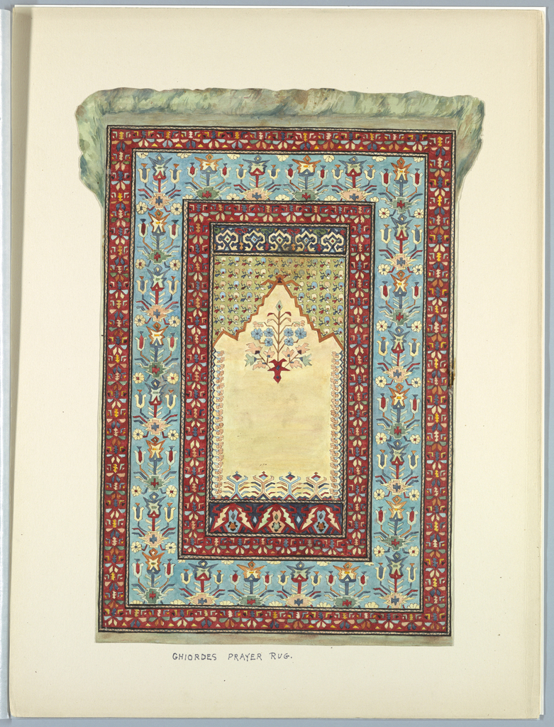 Drawing, Ghiordes Prayer Rug, ca. 1900