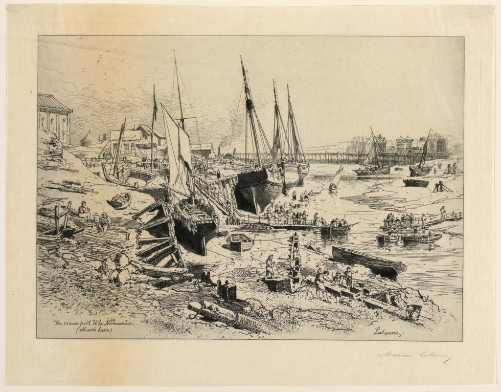 Print, Un Vieux Port de la Normandie (An Old Port of Normandy)