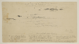 Drawing, Landscape Sketch, Hudson Valley, New York