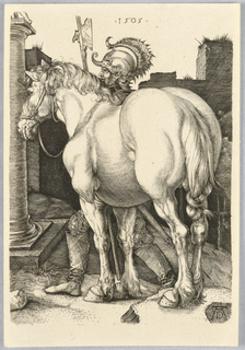 Print, The Large Horse, 1505