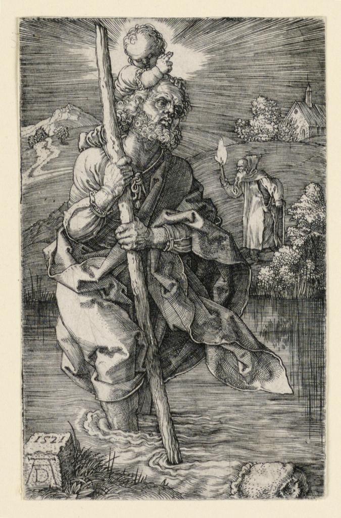 Print, St. Christopher