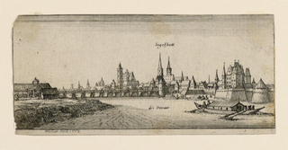 Print, View of Ingelstadt (Bavar, 1665