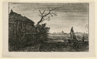 Print, The Sluice-Gate, Cottage Near Mud Flats, in the Evening
