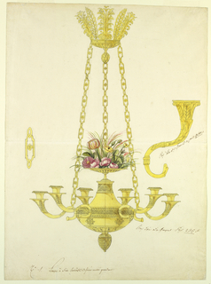 Drawing, Chandelier, 1810–25