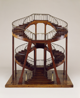 Double-revolution super-imposed staircase model.
