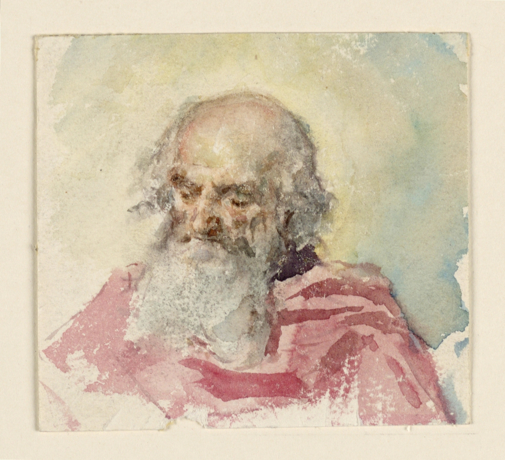 Drawing, Head of Diety, 1838–1874
