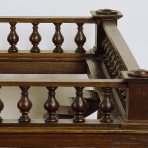 Double staircase model in English style.