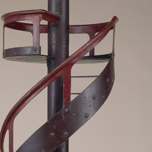 Spiral and circular-section staircase model.