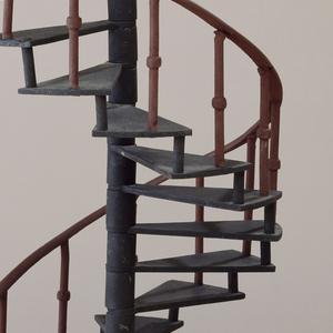Spiral-circular staircase model.