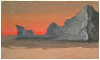 Drawing, Icebergs at Midnight, Labrador