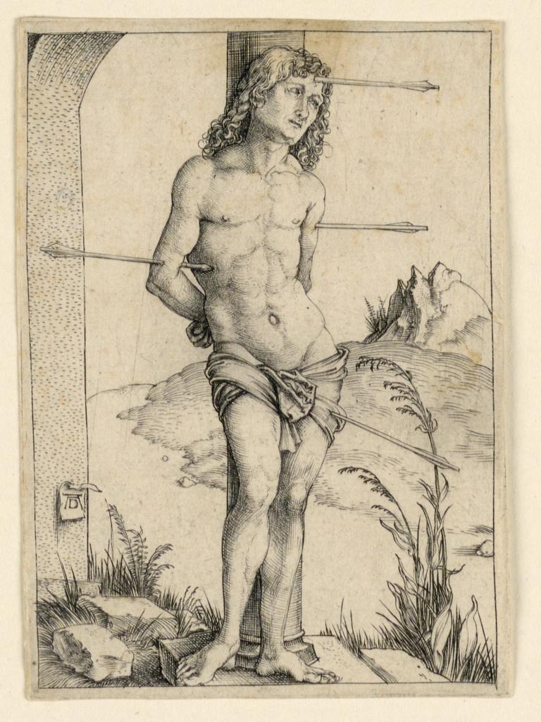 Print, St. Sebastian at the Column
