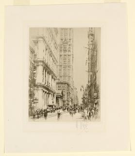 Print, Lower Broadway, 1924